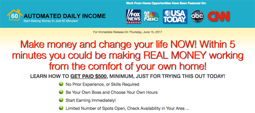 Automated Daily Income website screenshot
