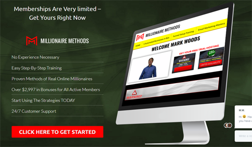 Millionaire Methods Website Screenshot