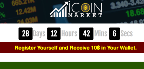 iCoin Market Website Screenshot