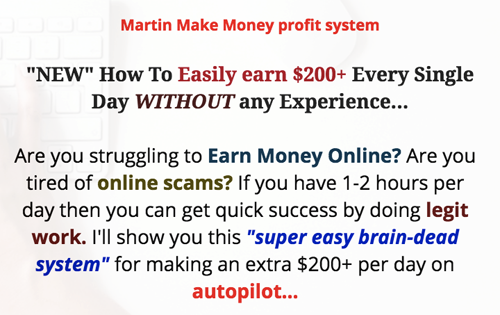 Martin Make Money Profit System